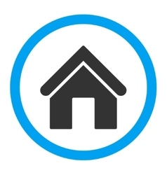 Home flat blue and gray colors rounded icon vector
