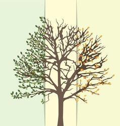 An abstract tree summer and fall vector