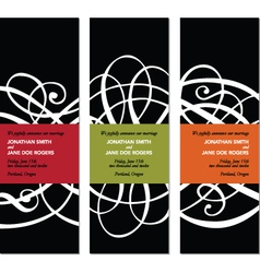 scroll banners vector image