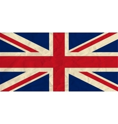 United kingdom paper flag vector