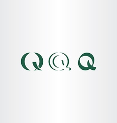 Icons set letter q symbol logo elements vector