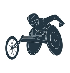 Paralympic games the athlete in the wheelchair vector