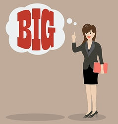 Business woman think big vector image