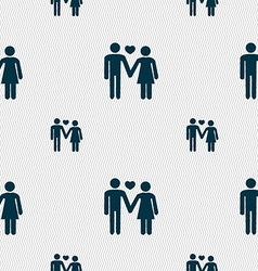 Couple in love icon sign seamless pattern with vector