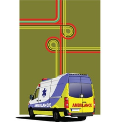 Ambulance Background vector image vector image