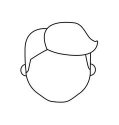 avatar face man line cartoon vector image