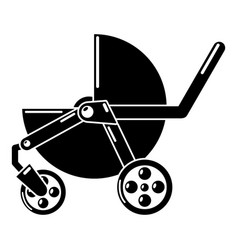 Baby carriage modern icon simple black style vector