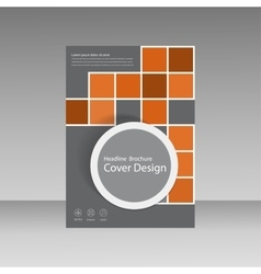 Book cover layout design Abstract flyer templates vector image vector image