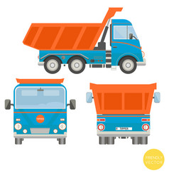 cartoon transport dump truck vector image vector image