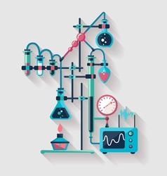Chemistry laboratory vector