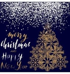 Christmas and happy new year 2017 handwritten vector