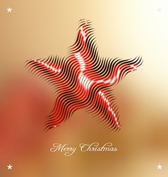 Christmas background with stylized embellishment vector