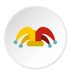 Clown hat icon circle vector
