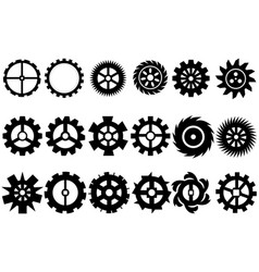 Cogwheel machine gear set of gear wheels vector