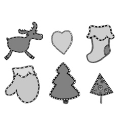 Cute Christmas stickers set vector image vector image