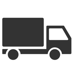 Delivery lorry flat icon vector