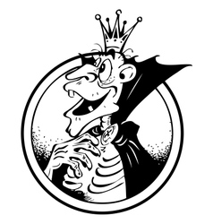 Funny picture of a vampire vector image