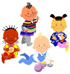 kids of different nationalities vector image vector image