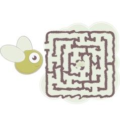 mazes bee vector image vector image