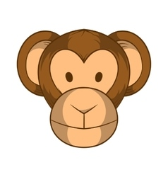 Monkey head icon cartoon style vector image vector image