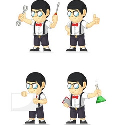 Nerd boy customizable mascot 17 vector