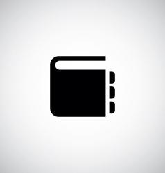 Notepad symbol icon vector