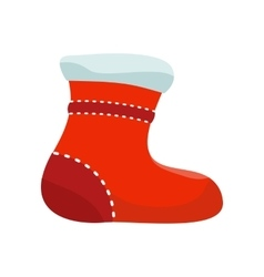 Sock for Christmas Stocking vector image vector image
