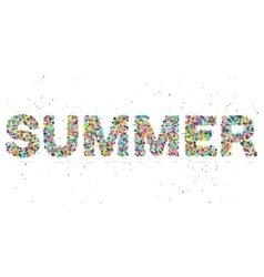 summer word consisting of colored particles vector image