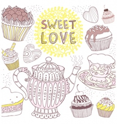 sweet love card vector image vector image