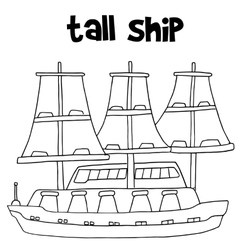 tall ship transport vector image