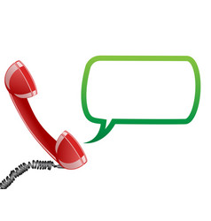 telephone receiver and speech bubble vector image