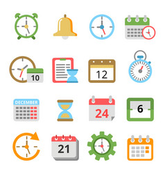 time management symbols calendars reminders vector image