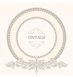 Vintage round frame vector image vector image