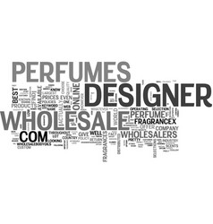 Wholesale designer perfume text word cloud concept vector