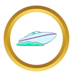 Speed boat icon vector