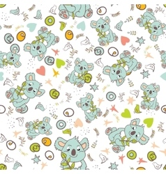 seamless animal pattern vector image