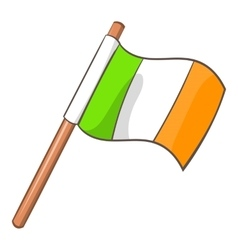 Ireland flag icon cartoon style vector
