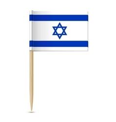 Flag of Israel Flag toothpick vector image