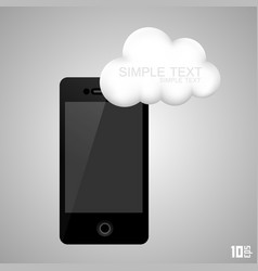 phone with a cloud vector image