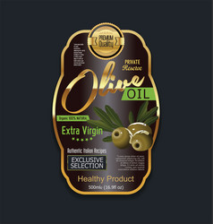 Olive oil luxury background label vector
