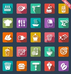 Food icons- flat design vector