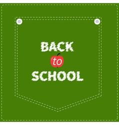 Green denim jeans pocket dash line back to school vector