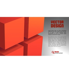 Cube layout red vector