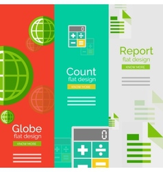 Set of flat design universal business concepts vector