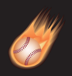 Baseball-fire vector