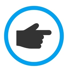 Index finger flat blue and gray colors rounded vector