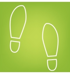 Imprint shoes line icon vector
