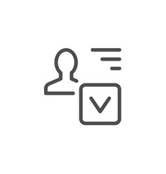 Approved person line icon vector