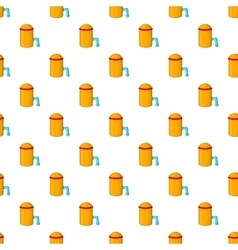 Barrel with tap pattern cartoon style vector
