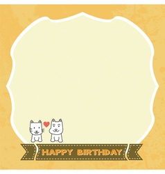 Birthday card4 vector image